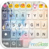 Free Glass Emoji Keyboard Skin app by Colorful Design