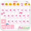 Pink Knot Emoji Keyboard Theme App by Colorful Design
