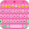 Pink Jelly Emoji Keyboard Skin app by Colorful Design