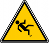 +sign+warning+slippery+ clipart