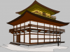+building+structure+temple+Kinkakuji+Japanese+ clipart