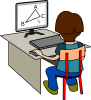 +child+kid+children+student+geometry+computer+ clipart