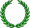 +sign+information+education+laurel+wreath+ clipart