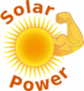 +energy+power+electricity+solar+power+with+label+ clipart