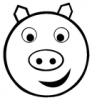 +animal+pig+smiley+ clipart