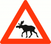 +animal+Norwegian+elk+warning+ clipart