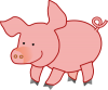 +pink+pig+farm+animal+bacon+ clipart