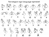 +signal+asl+language+hand+communication+Norwwegian+sign+language+alphabet+BW+label+ clipart