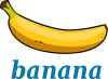 +food+nourishment+eat+fruit+banana+label+ clipart