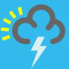 +climate+weather+clime+atmosphere+weather+icon+blue+thundery+shower+ clipart