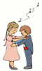 +marry+marriage+wedlock+matrimony+normal+wedding+flower+girl+and+ring+bearer+dancing+ clipart