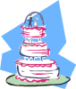 +marry+marriage+wedlock+matrimony+wedding+wedding+cake+w+pink+and+blue+ clipart