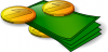+money+currency+loot+dinero+normal+bills+and+coins+ clipart