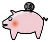 +money+currency+loot+dinero+piggy+bank+ clipart