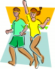 +sports+sport+exercise+normal+fitness+couple+ clipart