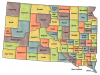 +state+territory+region+map+normal+US+State+Counties+South+Dakota+ clipart