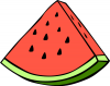 +fruit+food+produce+watermelon+wedge+ clipart