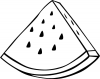 +fruit+food+produce+watermelon+wedge+outline+ clipart