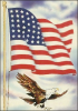 +military+US+military+flag+and+eagle+ clipart
