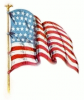 +military+US+military+flag+waving+right+ clipart
