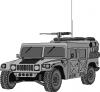 +transportation+military+army+vehicle+hmmwv+ clipart