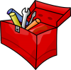 +tool+box+red+ clipart